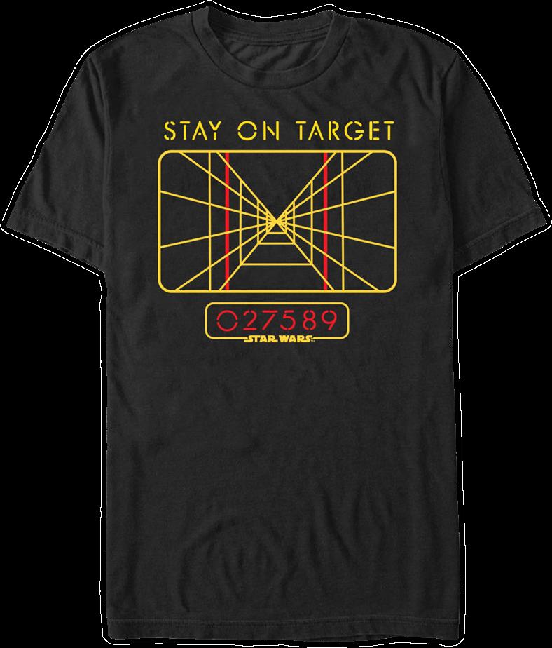 Star Wars Stay On Target T-Shirt  sc 1 st  80s Tees & Star Wars Stay On Target T-Shirt: Star Wars Mens T-Shirt
