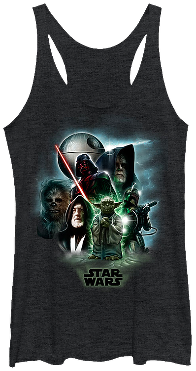 31006544159e1 Ladies Universe Star Wars Tank Top  Star Wars Juniors Shirt