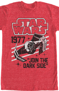 Join The Dark Side Star Wars T-Shirt