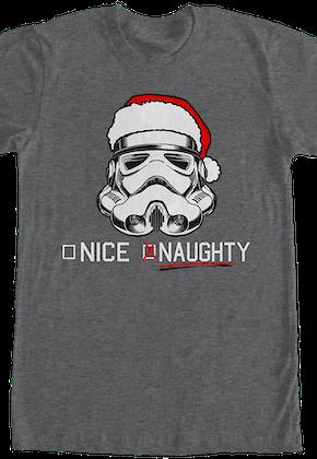 star wars naughty stormtrooper christmas t shirt