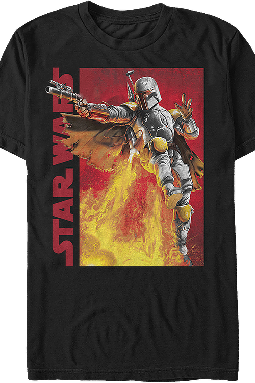 a6023c42b Boba Fett Jetpack Star Wars T-Shirt: Star Wars Mens T-Shirt