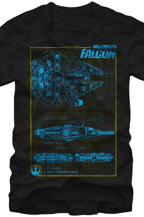 Schematic Millennium Falcon Star Wars T-Shirt
