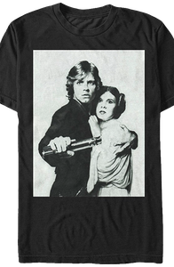 Luke Skywalker and Princess Leia Star Wars T-Shirt