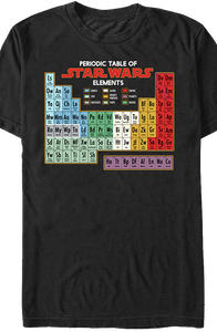 Periodic Table Star Wars T-Shirt