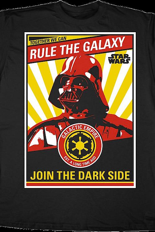 Darth Vader Rule the Galaxy Star Wars T Shirt