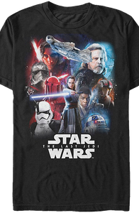 Last Jedi Collage Star Wars T-Shirt