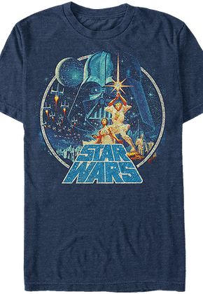 c19efb33755 Star Wars A New Hope Poster Art T-Shirt