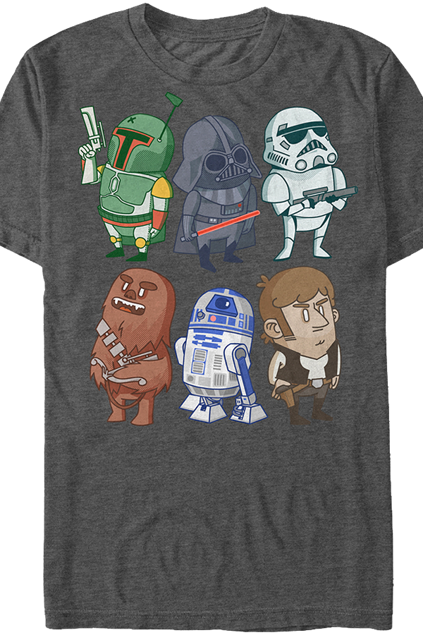 T Shirts Cartoon Characters : Star wars cartoon characters t shirt