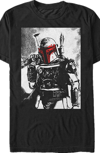 Charcoal Sketch Star Wars Boba Fett T-Shirt