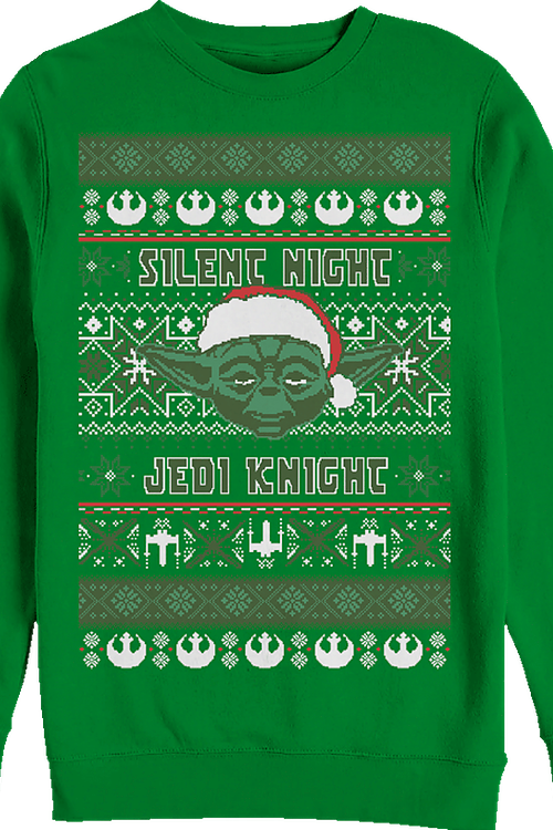 Silent Night Jedi Knight Star Wars Yoda Christmas Sweatshirt