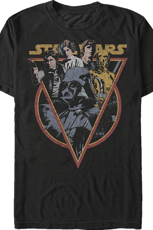 7d2528e2a47 Retro Star Wars T-Shirt  Star Wars Mens T-Shirt