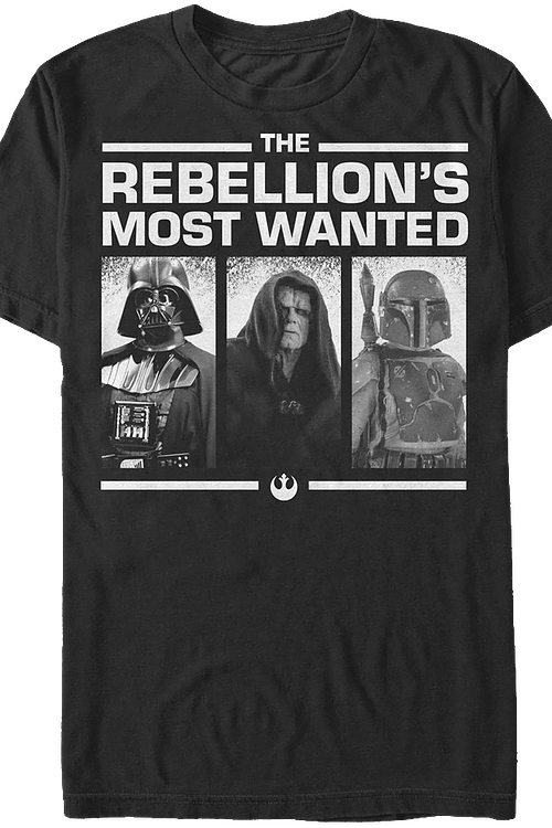 Rebellion's Most Wanted Star Wars T-Shirt