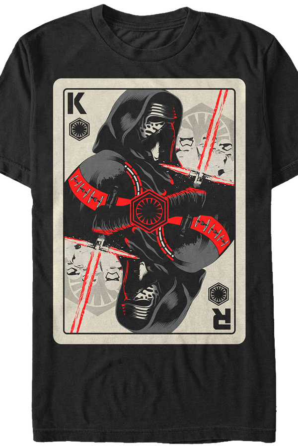 Kylo Ren Playing Card Star Wars T-Shirt