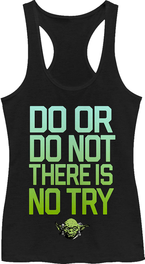 Ladies There Is No Try Star Wars Tank Top