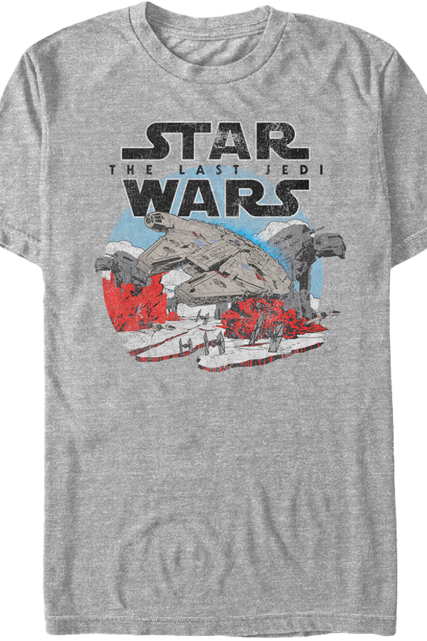 Distressed Star Wars Last Jedi T-Shirt