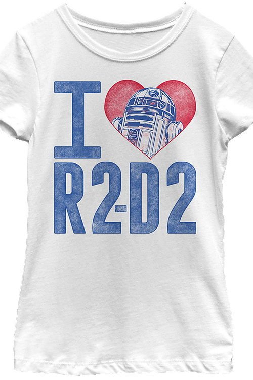 Girls I Love R2-D2 Star Wars Shirt