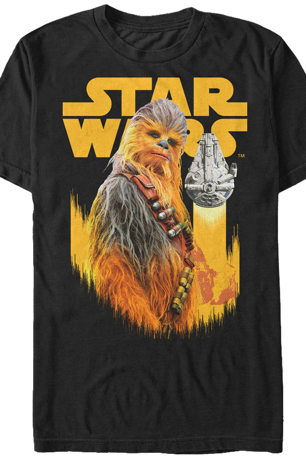 Chewbacca and Millennium Falcon Solo Star Wars T-Shirt