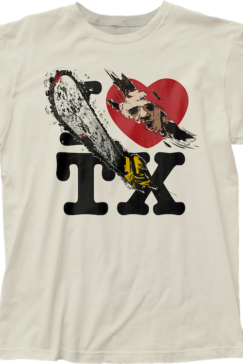 I Love TX Texas Chainsaw Massacre T-Shirt
