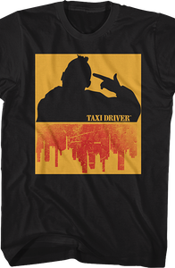 Travis Bickle Silhouette Taxi Driver T-Shirt