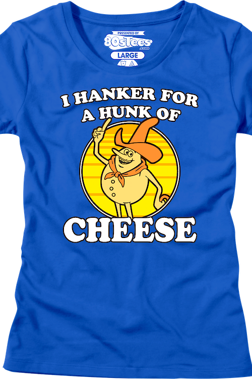 Womens I Hanker For A Hunk Of Cheese Time For Timer Shirt