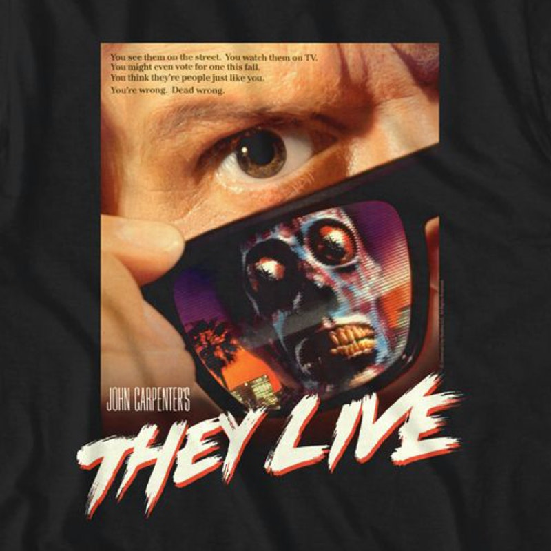 They Live ShirtMens Shirt Poster T UGzMqSLpV