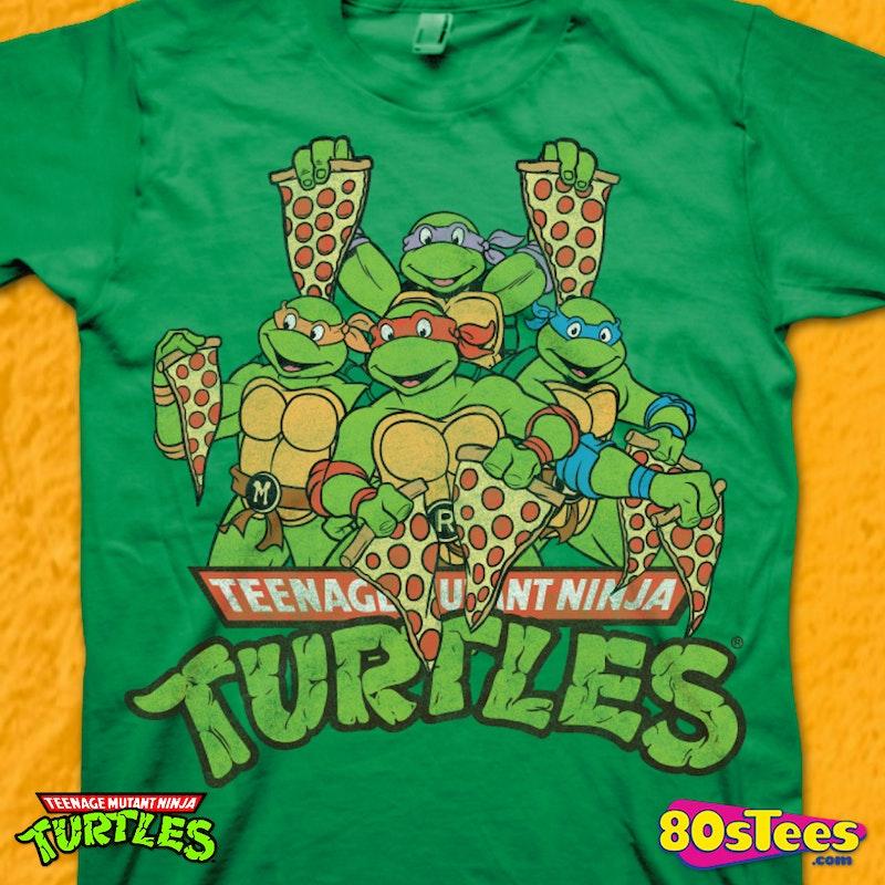 221ff7aa0 Pizza Slices Ninja Turtle T-Shirt: Ninja Turtles Mens T-Shirt