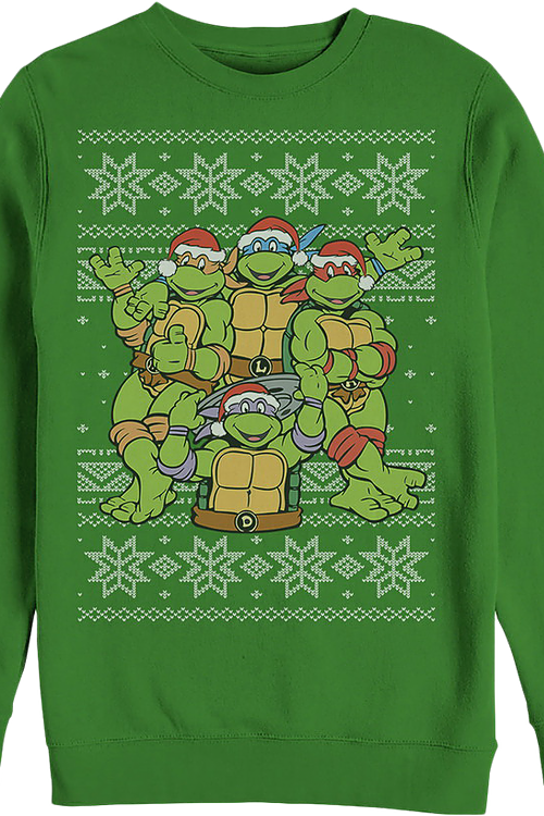 Faux Ugly Teenage Mutant Ninja Turtles Christmas Sweater