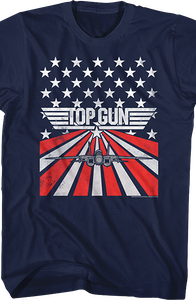 American Flag Top Gun T-Shirt