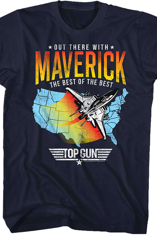 Out There With Maverick Top Gun T-Shirt