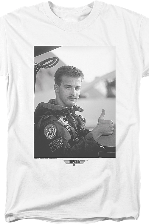 Black and White Goose Top Gun T-Shirt