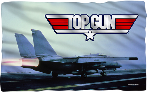 Top Gun 36 x 58 Thin Fleece Throw