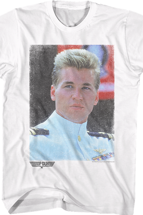 Top Gun Iceman Portrait T-Shirt