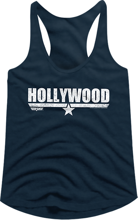 Ladies Hollywood Top Gun Racerback Tank Top