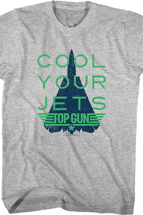 Distressed Cool Your Jets Top Gun T-Shirt