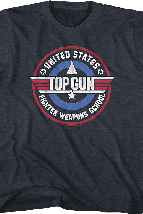 Youth Fighter Weapons School Top Gun Shirt