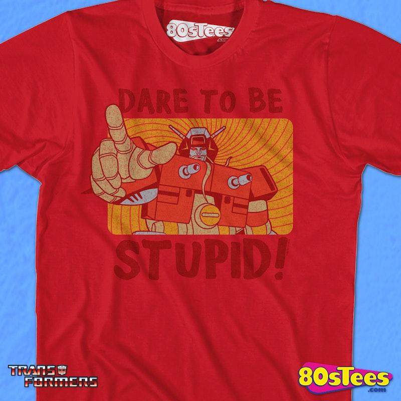 95799894 Wreck-Gar Dare To Be Stupid Shirt: Transformers Mens T-shirt