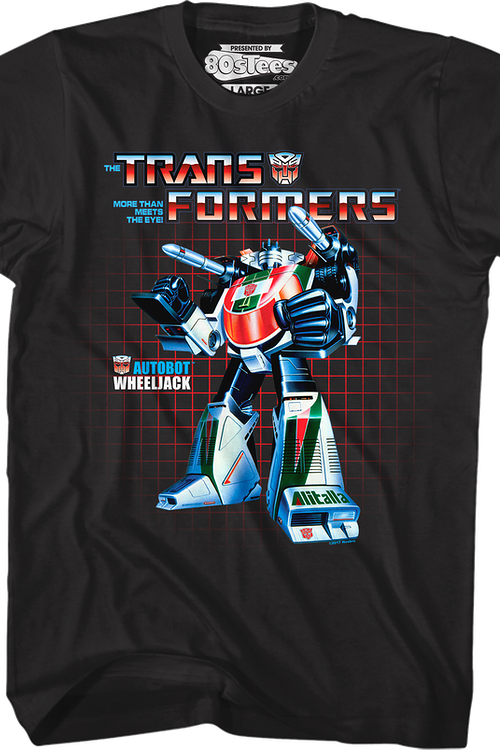 Wheeljack Box Art Transformers T-Shirt
