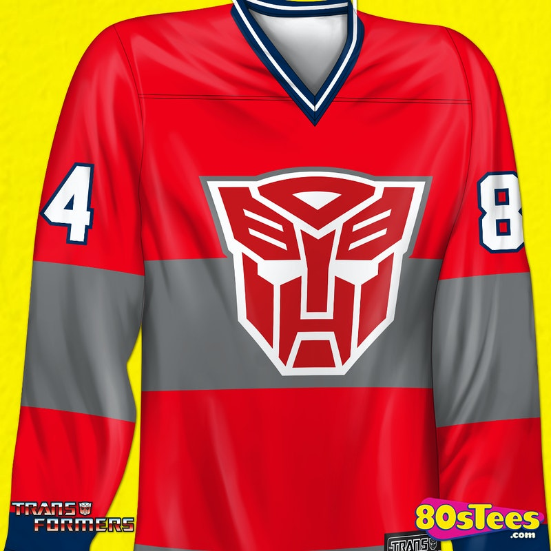 ceb7fe16f Optimus Prime Hockey Jersey: Transformers, Autobots Mens Jerseys