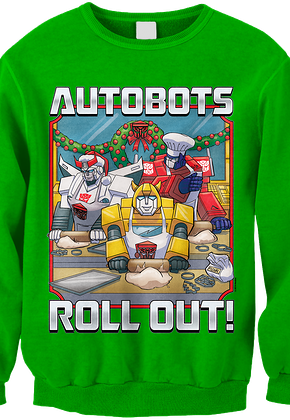 Autobots Roll Out Transformers Faux Ugly Christmas Sweater
