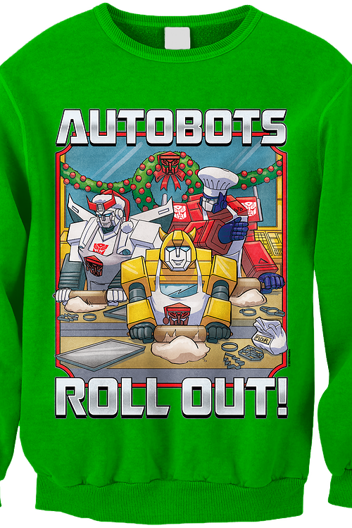 4a06fbc84 Transformers Autobots Roll Out Faux Ugly Christmas Sweater