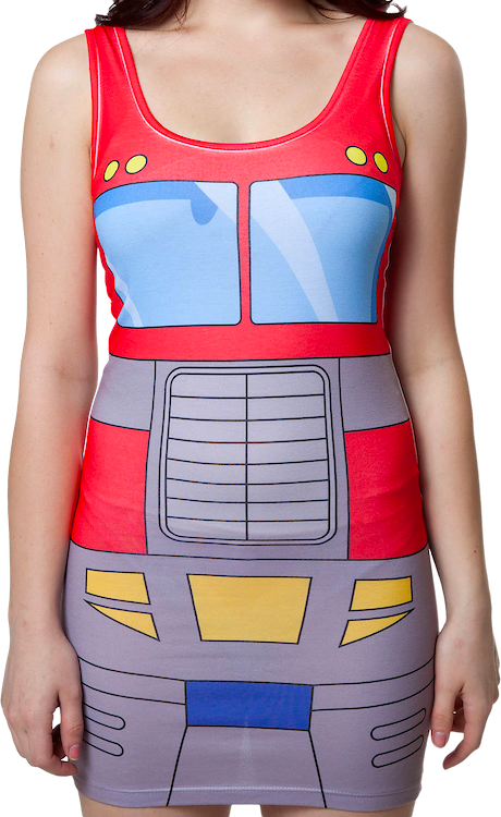 393e3f58 Transformers Optimus Prime Sublimated Tank Top Dress