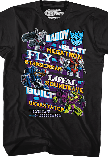 Decepticons Father's Day Transformers T-Shirt