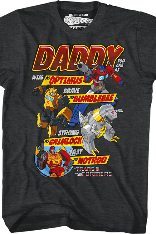 a9dcccb7 Autobots Father's Day Transformers T-Shirt: Transformers Mens T-Shirt