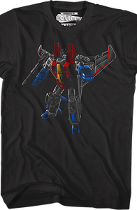 Brush Stroked Starscream Transformers T-Shirt