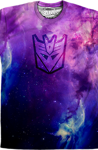 Sublimation Galaxy Decepticon Logo Transformers Shirt