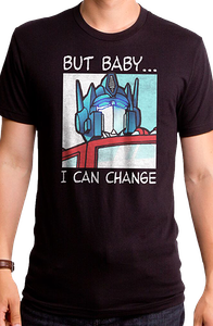 Optimus Prime I Can Change Transformers T-Shirt