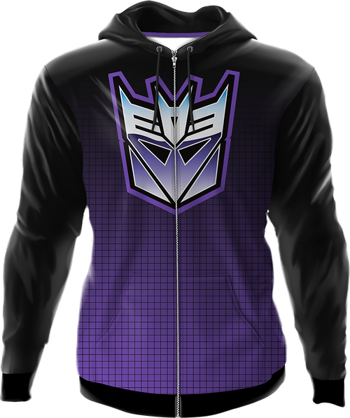 Icon Fade Activewear Decepticon Logo Transformers Hoodie