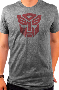 Transformers Autobot Logo Grey T-Shirt