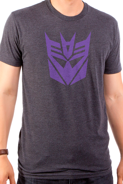 Transformers Decepticon Logo Grey T-Shirt