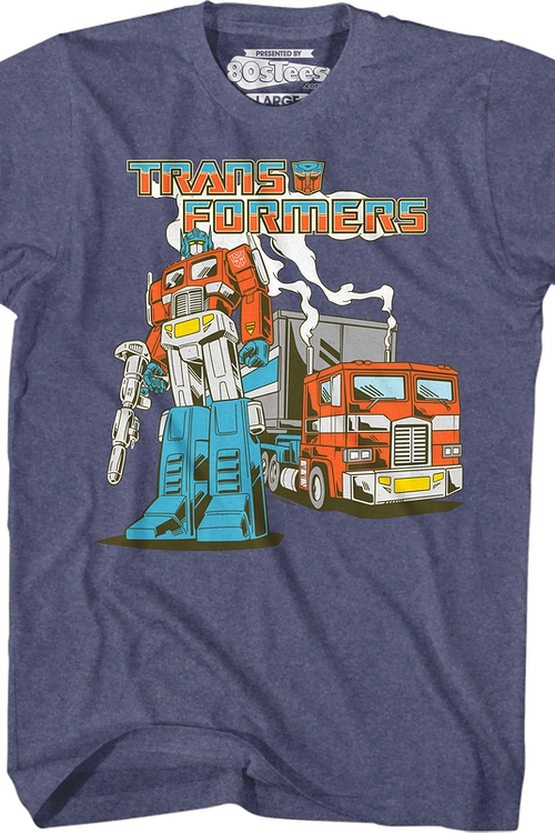 Retro Optimus Prime Transformers T-Shirt